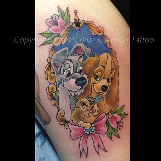 e88d0fe74 Lady and the Tramp Wicked Tattoos, Girly Tattoos, Disney Tattoos, Love  Tattoos,