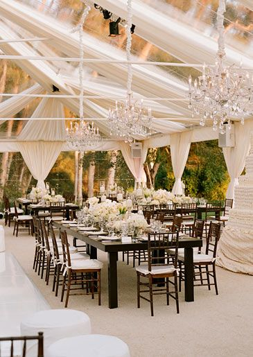 amazing wedding tent - did you spot the 5000 cupcake wedding tower