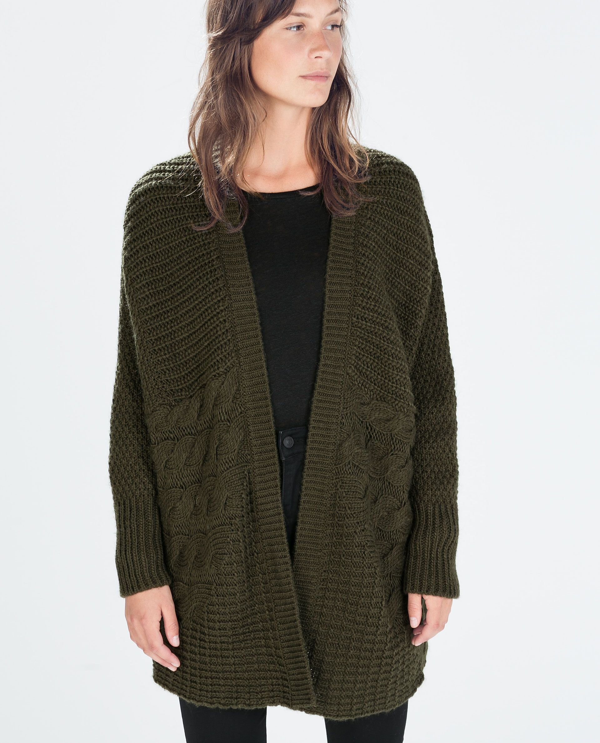 zara-khaki-oversize-cable-knit-cardigan-product-1-22148211-2 ...