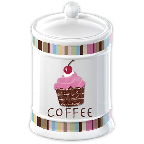 Cupcake Canisters For Kitchen: Cupcakes Collection Coffee Jar