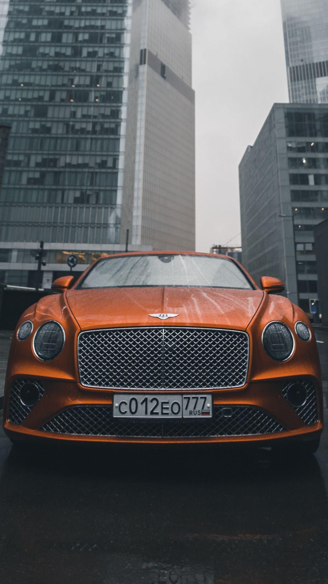 1080x1920 Bentley Luxury Car Orange Wallpaper Bentley Car Orange Wallpaper Luxury Car Photos