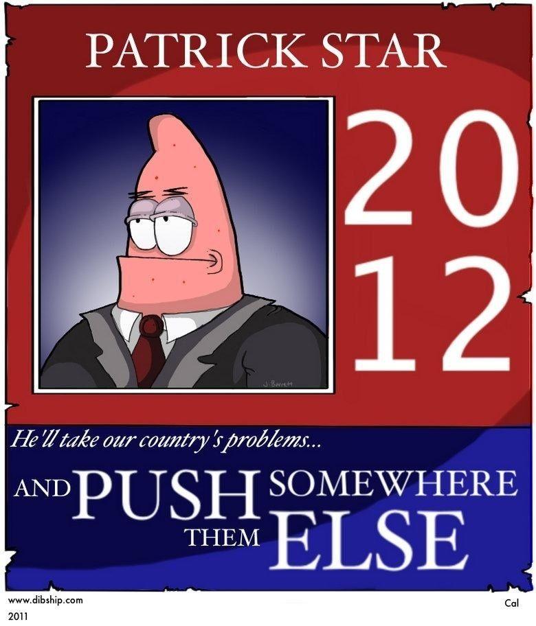 I D Vote For Him Haha Spongebob Jokes Spongebob Funny Spongebob