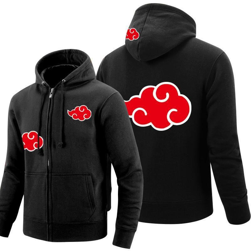 Anime NARUT0 Uchiha Sasuke Men Winter Warm Thicken Hoodie Jacket Zipper Coat