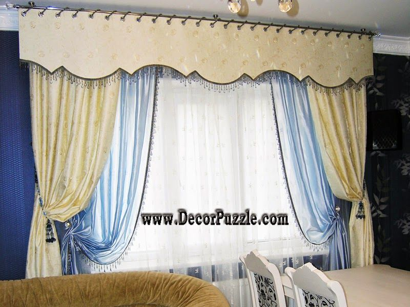 luxury classic curtains and valance designs 2015, embossed curtain fabric