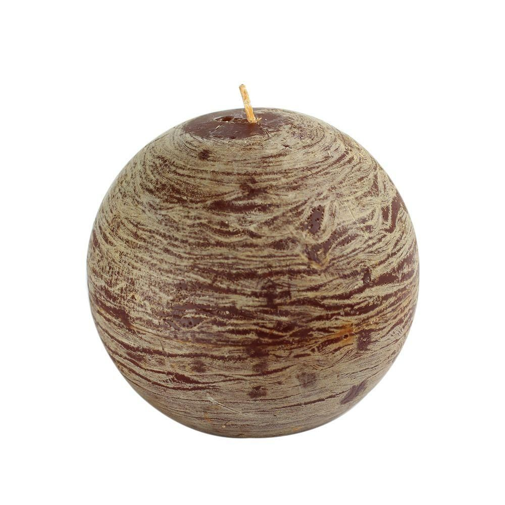 4 in. Coffee (Brown) Scented Frozen Ball Candle (2-Box)