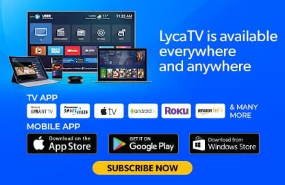 LycaTV brings together your favorite TV channels from across the