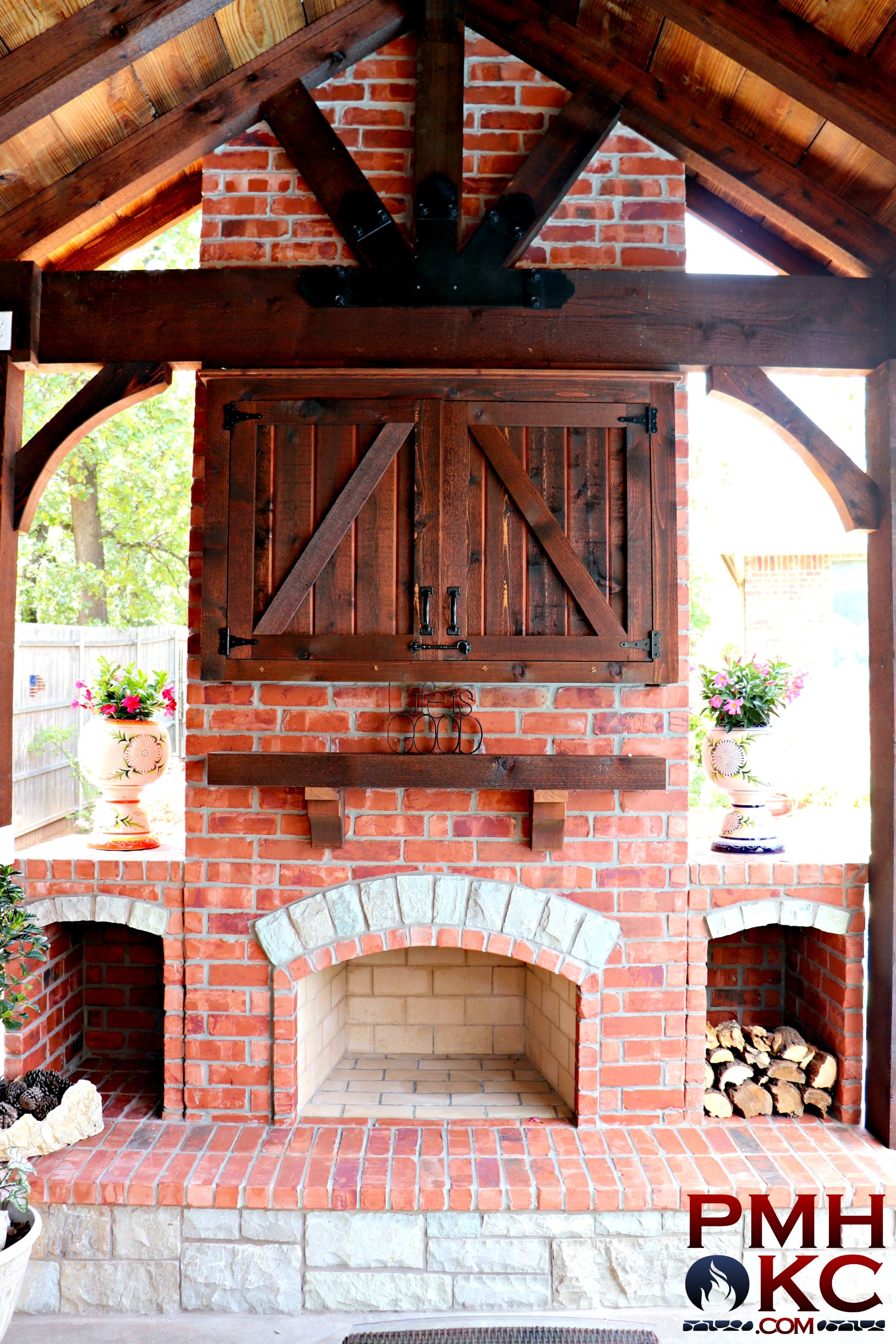 custom fireplace with tv box with images custom fireplace outdoor pergola fireplace on outdoor kitchen tv id=38465
