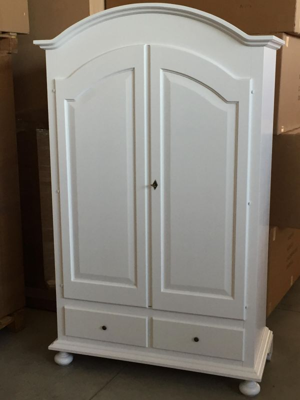 Armadio in legno 2 ante laccato bianco shabby chic art - Armadio bianco ikea ...