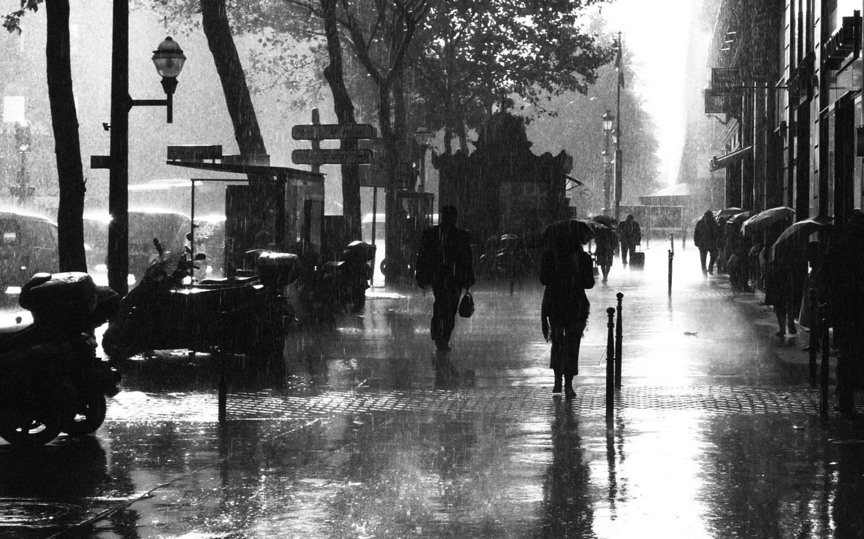 Raining days hd ♡ rainy times ♡ paris black white rainy