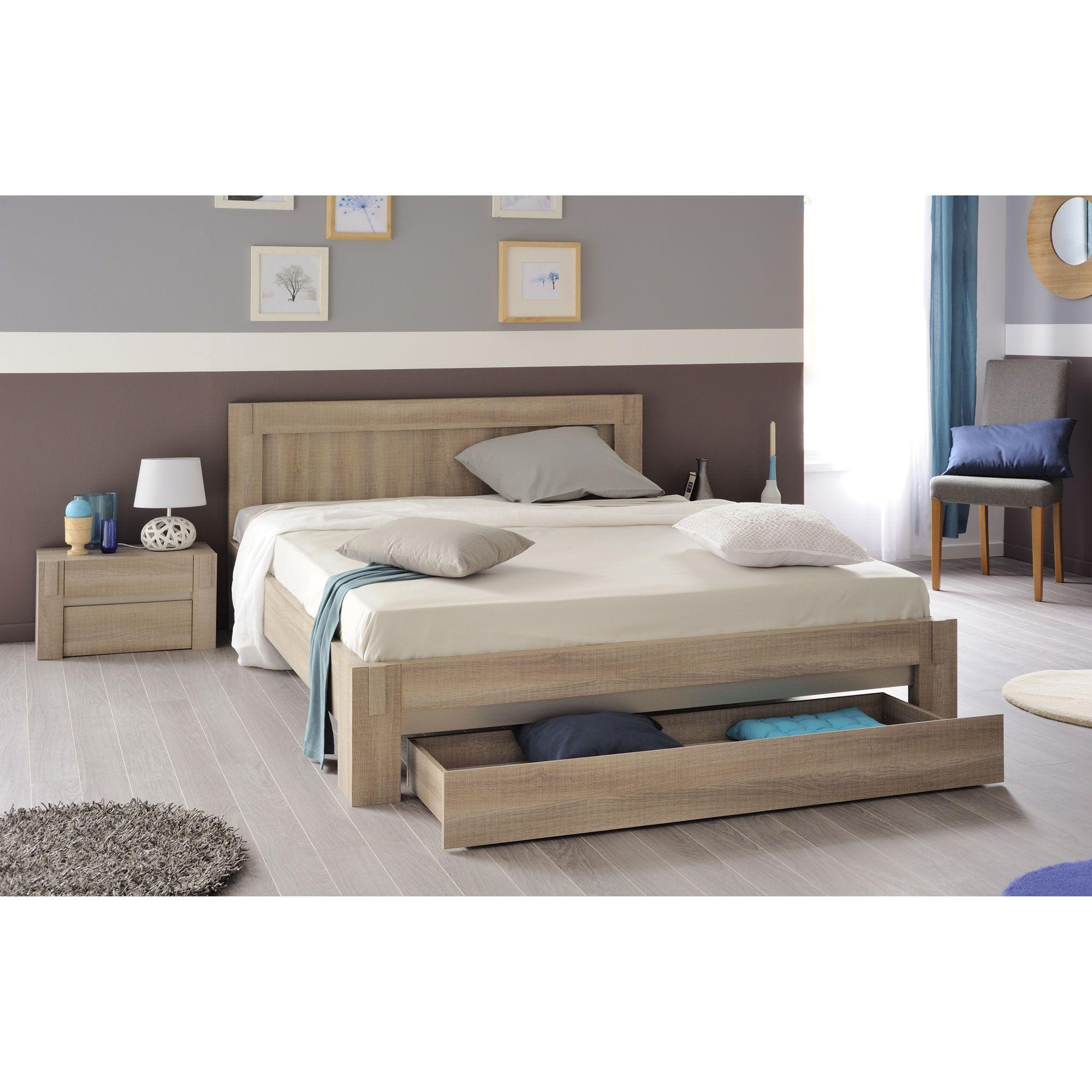 lit deux personnes avec tiroir de lit auberge port offert. Black Bedroom Furniture Sets. Home Design Ideas