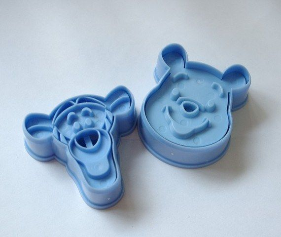 ABS Material Cookie Mold Blue Teenie Weenie and Tigger Shape Molds 2pcs/Set #WholePort