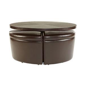 Sitcom Furniture Sedona Round Coffee Table W/ Ottomans