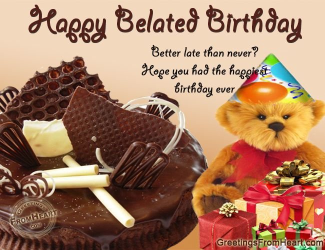 Pin by fashioncluba on belated birthday wishes images happy belated birthday better late than never hope you had the happiest birthday ever m4hsunfo