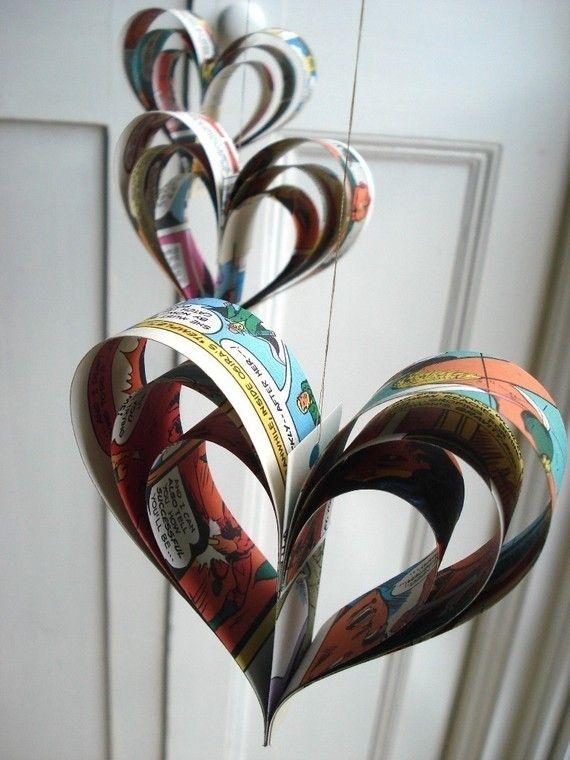 Comic book hearts.