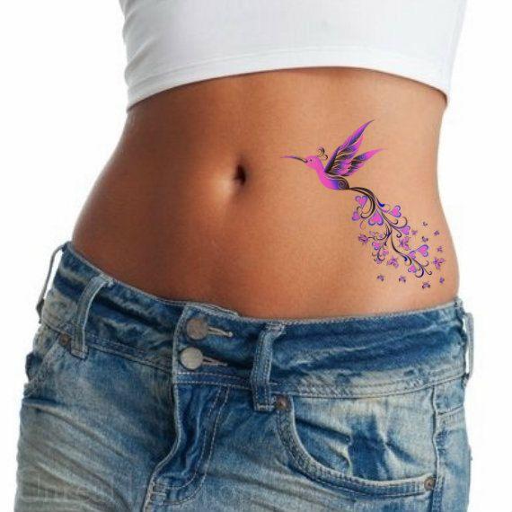Temporary tattoo 1 Hummingbird Waterproof Realistic Fake Tattoos