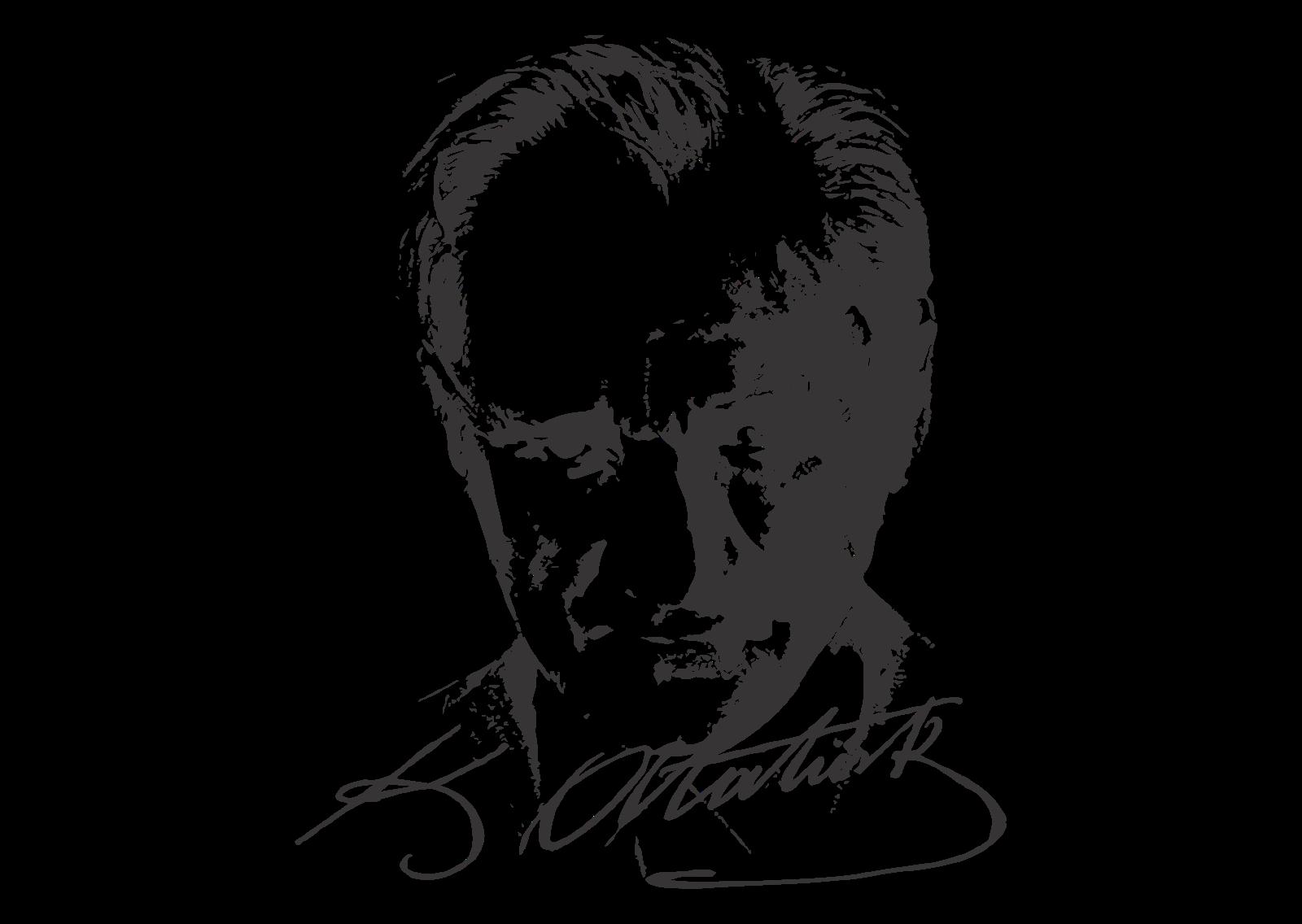 Ataturk Logo Vector Resim, Poster tasarımları, Çizim