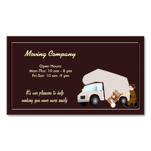 Moving Company Business Card Zazzle Com Company Business Cards Moving Company Business Card Template