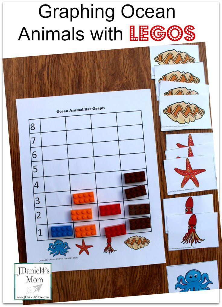 Kids Math Games- Graphing Ocean Animals with LEGOS | Kids Learning ...