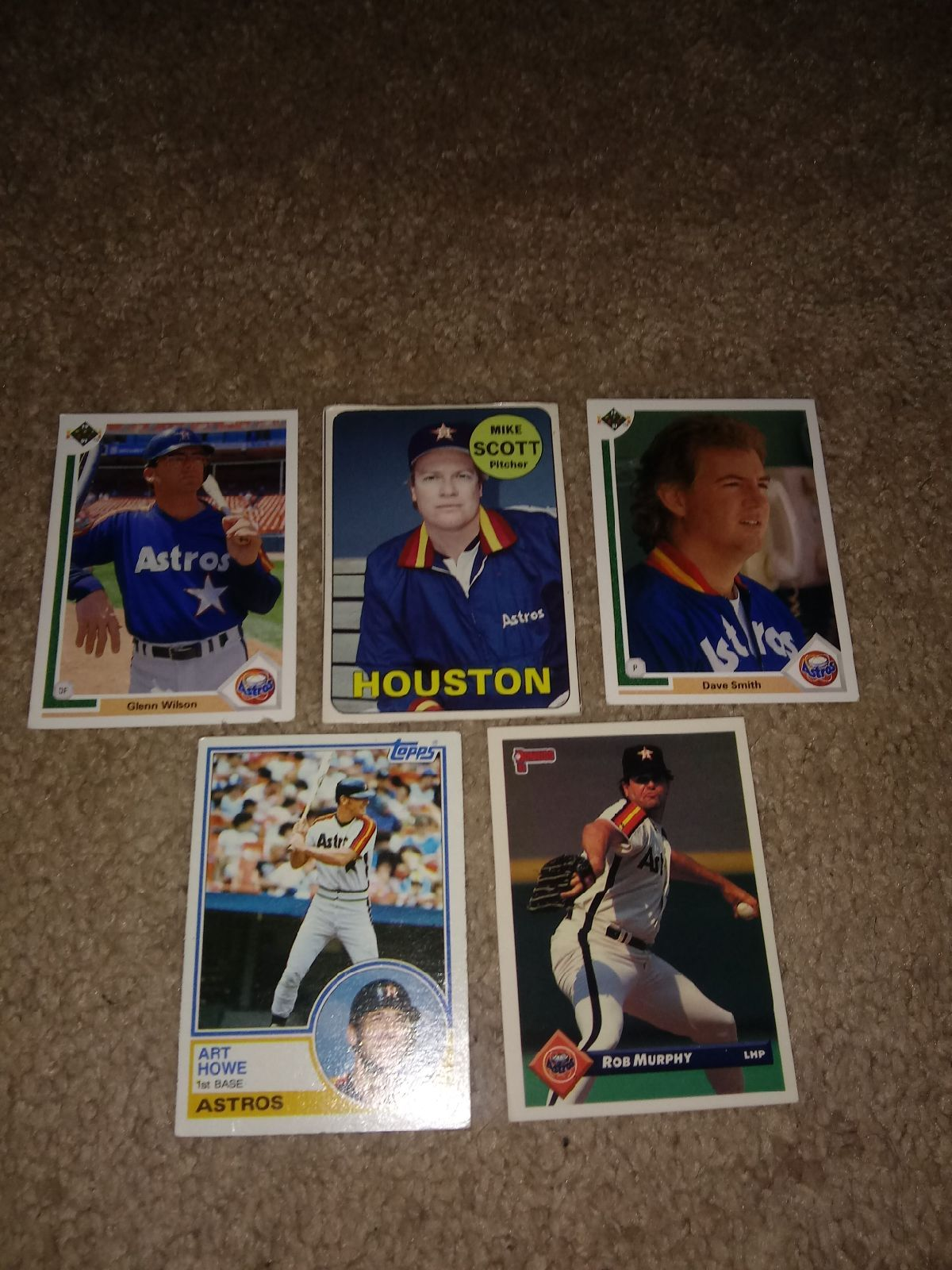 Astros cards 588 639 515 513 bc7 in 2020