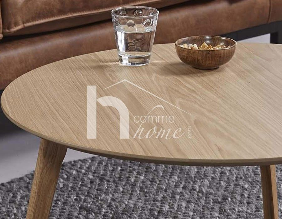 table basse ronde scandinave couleur