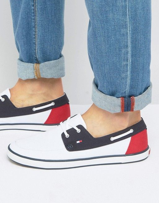 2d961be90c9143 Sneakers by Tommy Hilfiger Canvas Boat Shoes