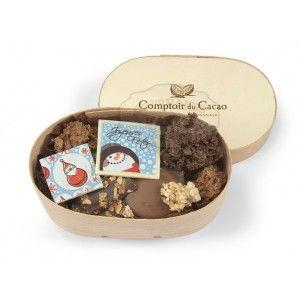 Chocolats Noel Assortiment Comptoir Du Cacao Boite En Bois 120g Www Gourmandsdantan Fr Chocolat Noel Cacao Chocolat