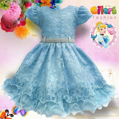 cde82d041 Vestido Infantil Para Festa Luxo Tema Cinderela | Roupas infantil ...