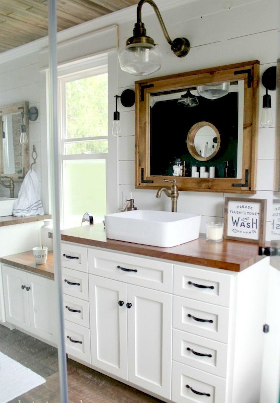 Vintage farmhouse bathroom remodel ideas on a budget (20 ...