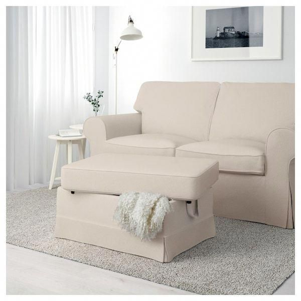 Ektorp Ottoman Lofallet Beige In 2020 Furniture