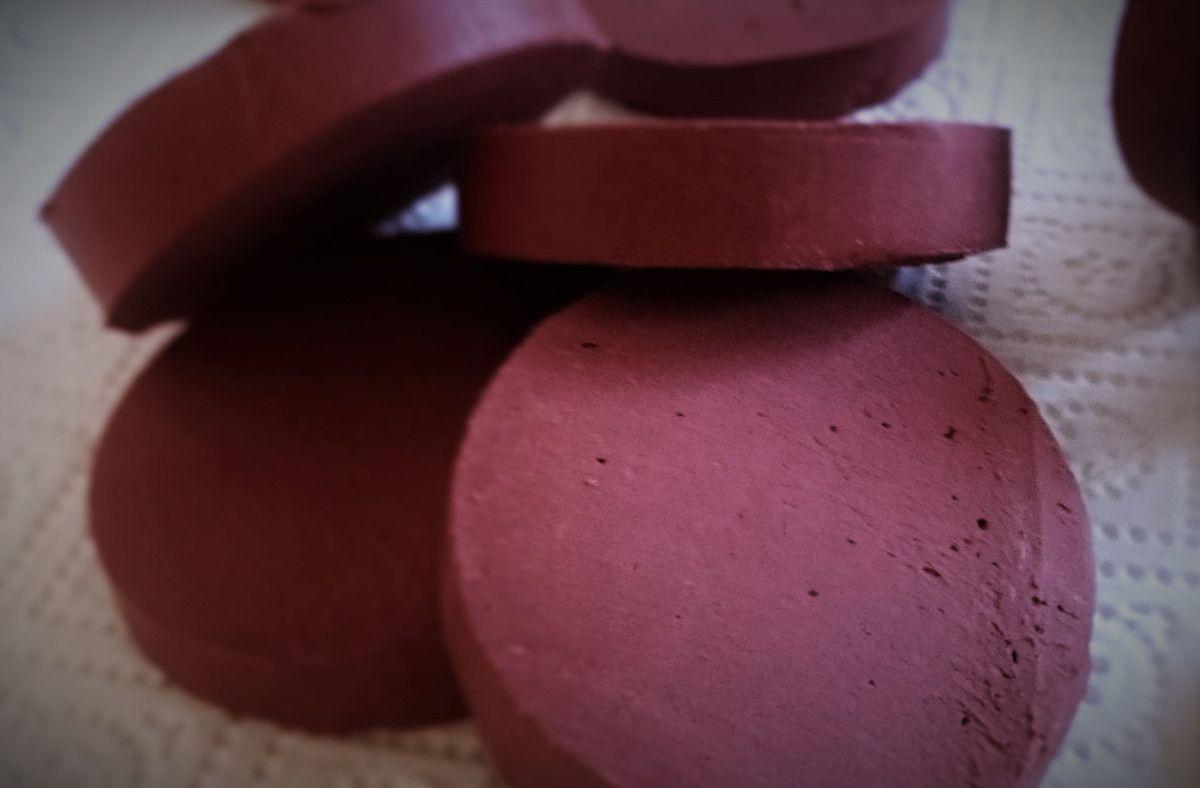 Papaya & Red Reef Clay soap, handlede coldprocess