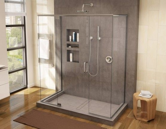 Redi Trench Triple Curb Shower Pan With Center Trench Drain
