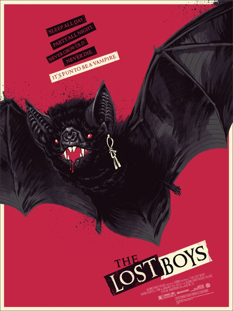 The Lost Boys Red Bat Boys Posters Lost Boys Movie Mondo Posters