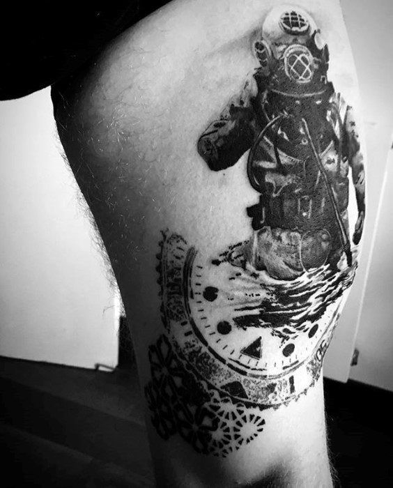 60 diver tattoo designs for men underwater ink ideas stuff pinterest tattoo designs. Black Bedroom Furniture Sets. Home Design Ideas