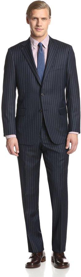 Hickey Freeman Stripe Suit