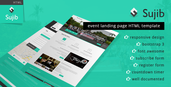 Sujib Event Landing Page HTML Template Event landing