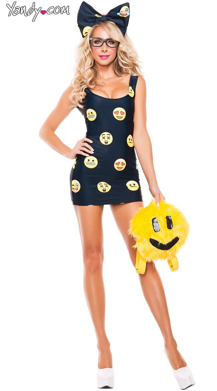 Emoji Adult Fancy Dress Costume Emoticon Joker Face One Size
