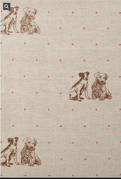 "`close up of cute Emily Bond  ""Terriers"" fabric"