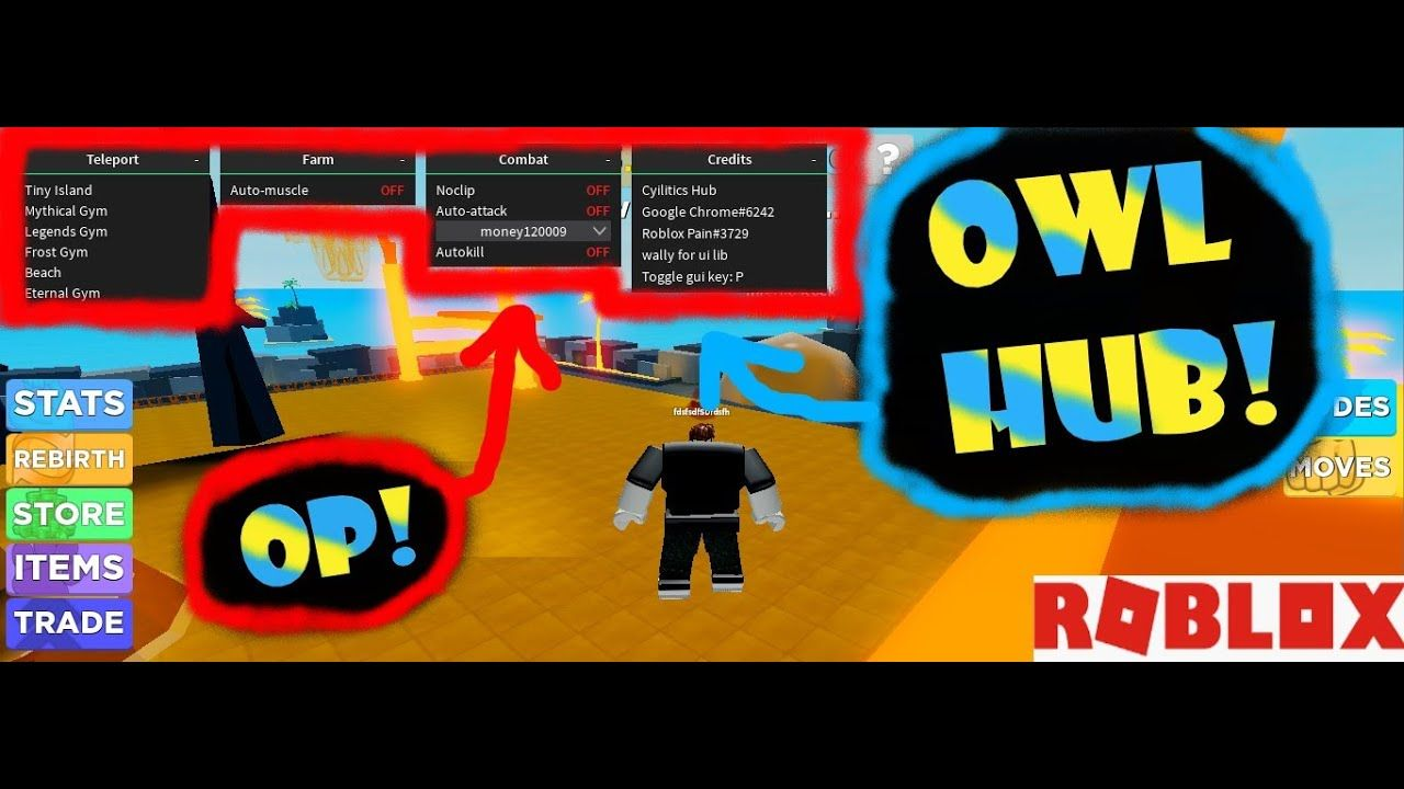 Roblox Owl Hub Script Free And Works For 32 Games Roblox