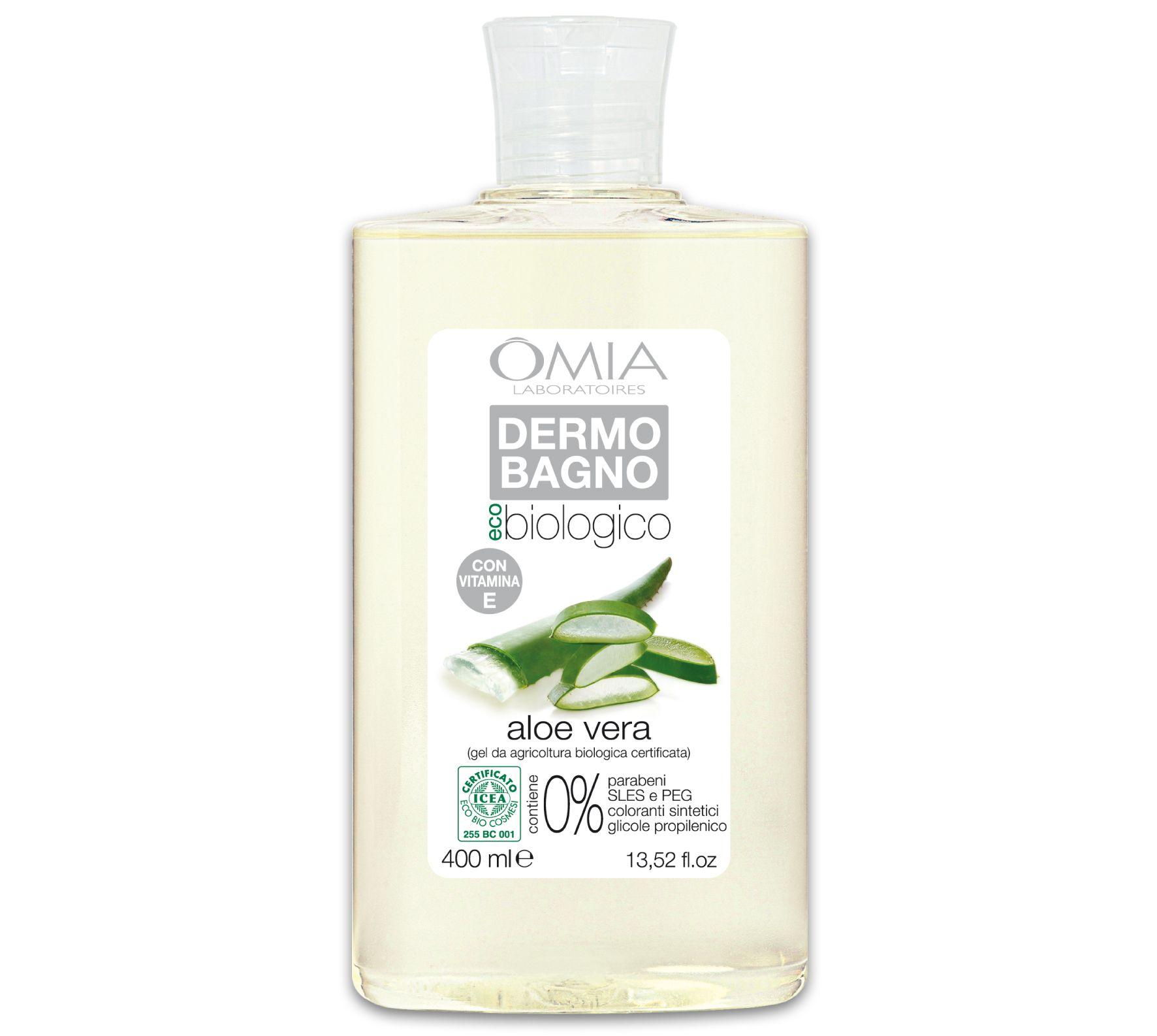 Dermo Bagno All'aloe vera della Linea Eco bio. Questo Bagno è particolarmente indicato per persone con pelle secca e delicata.