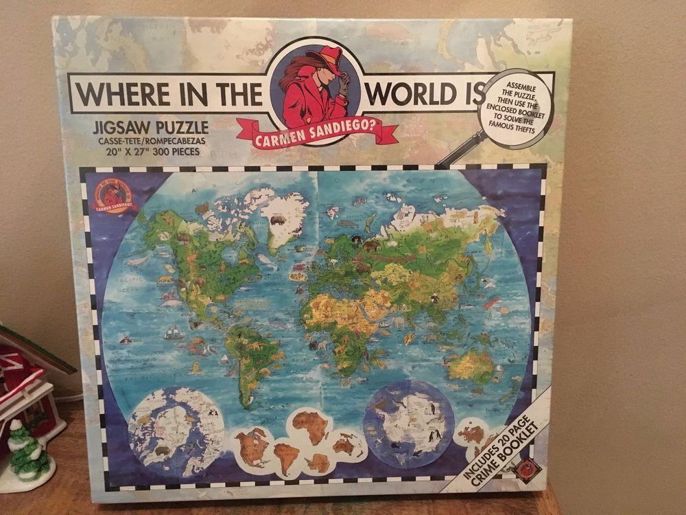 Where in the world is carmen sandiego jigsaw puzzle 300 pieces new world map puzzle where in the world is carmen sandiego jigsaw 300 pieces new gumiabroncs Gallery