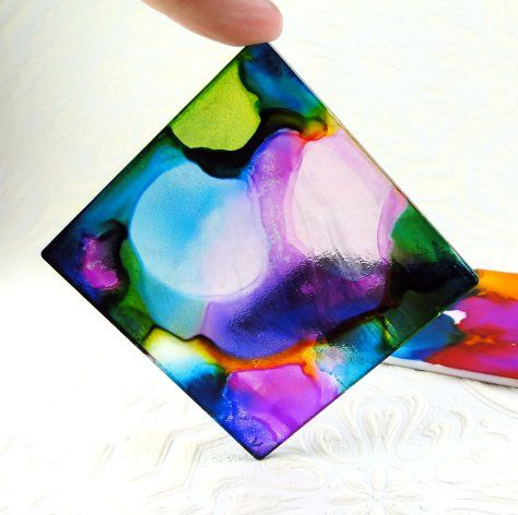 13 Alcohol Inked Acrylic Alcohol Ink Crafts Alcohol Ink Glass Alcohol Ink Painting