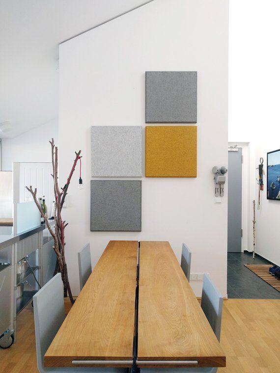 Akustikplatte Schallabsorber Fur Wand Decke Aus Naturfasern Etsy Schallabsorber Wohnen Akustik