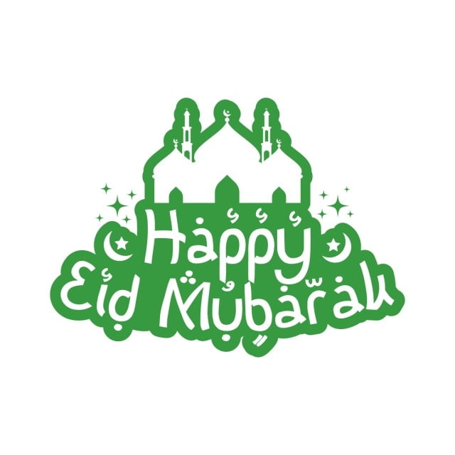 Happy Eid Mubarak Greeting Text With Mosque Greeting Islam Vector Png And Vector With Transparent Background For Free Download Happy Eid Happy Eid Mubarak Eid Mubarak Greetings