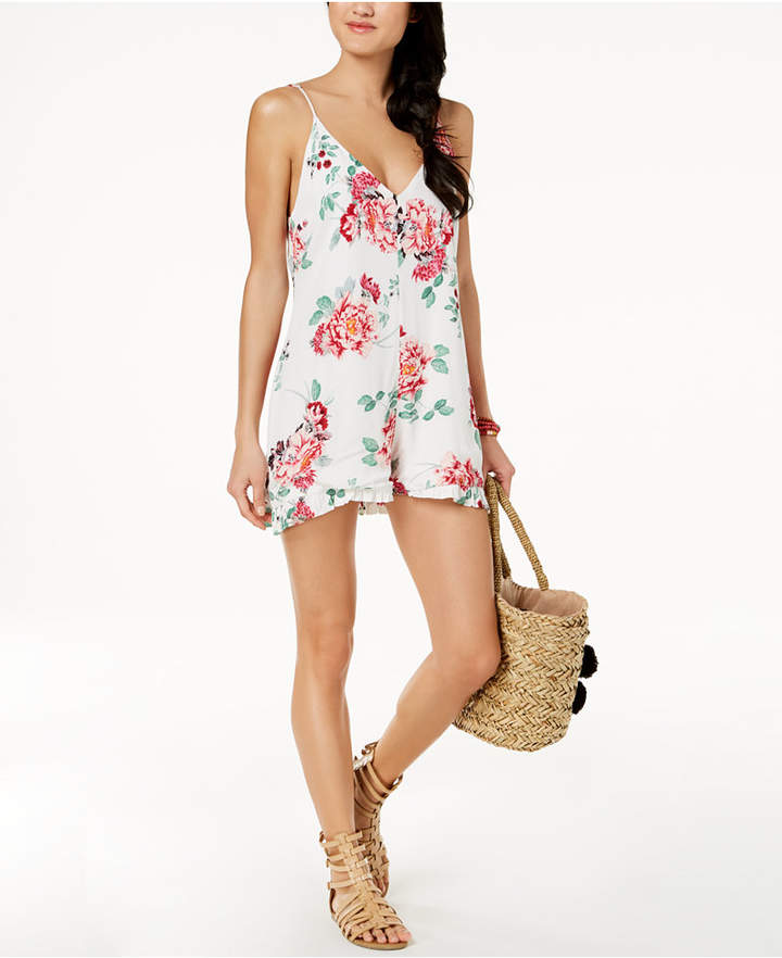 55381747ebd Minkpink Pretty Petals Cover-Up Romper Women s Swimsuit