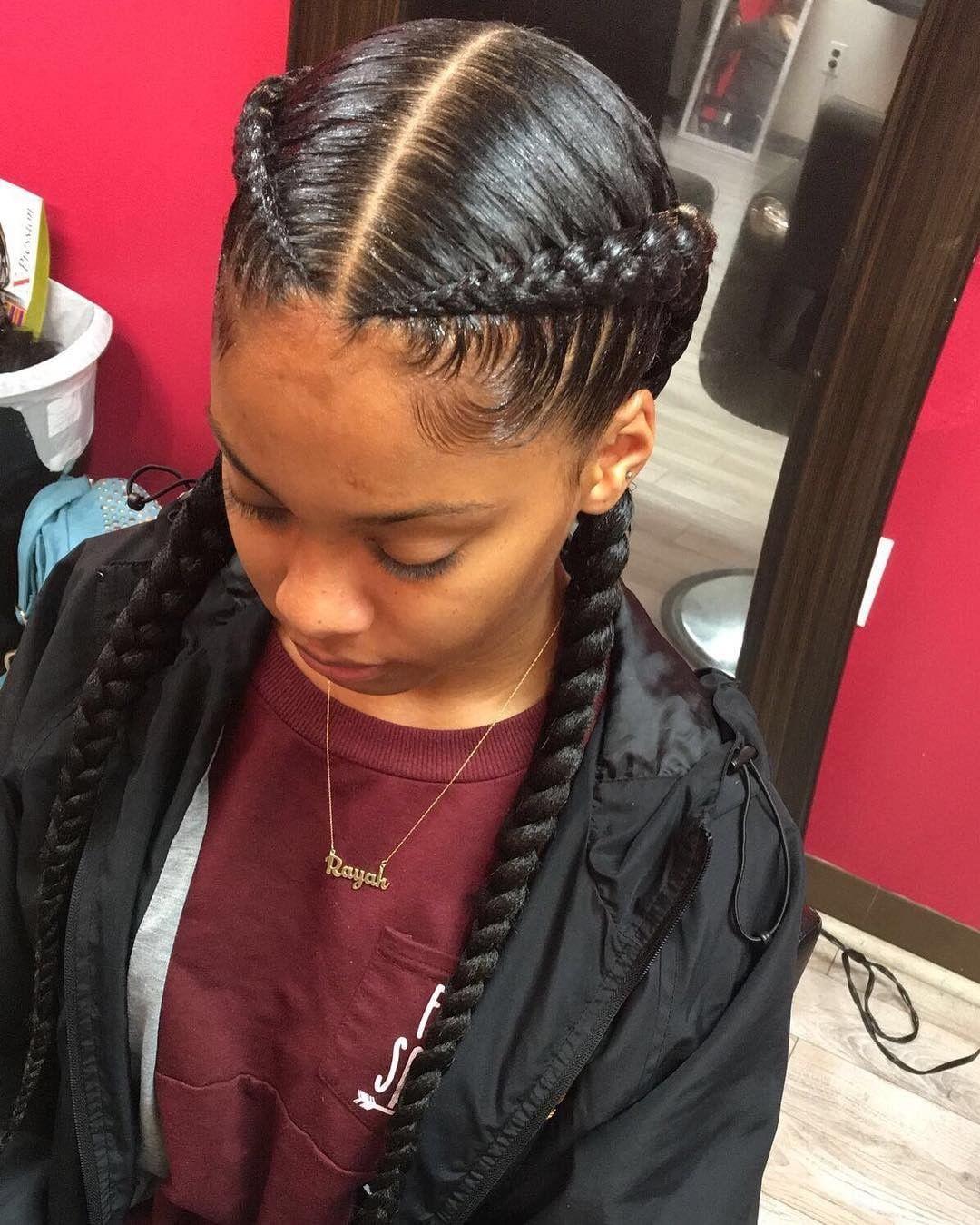 Tbt To These Crisp Braids By Milwaukee Braider Amber Belovely Voiceofhair Voiceofhair Com Goddess Braids Hairstyles Hair Styles Sleek Braid