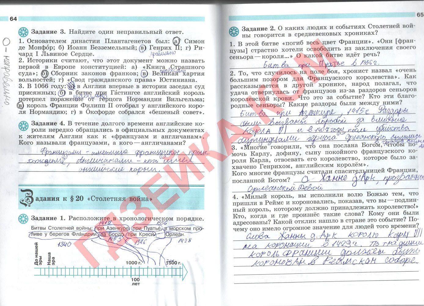 Спиши.ру история 6 класс рабочая тетрадь ответы крючкова