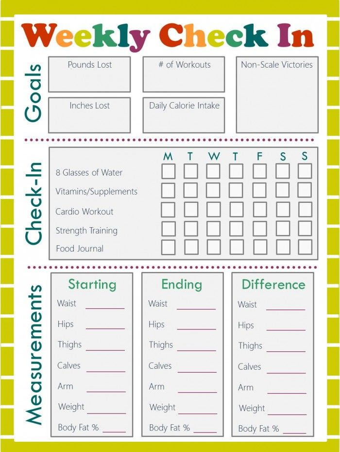 Free Fitness Journal  Meal Planning Printables  Fitness Journal