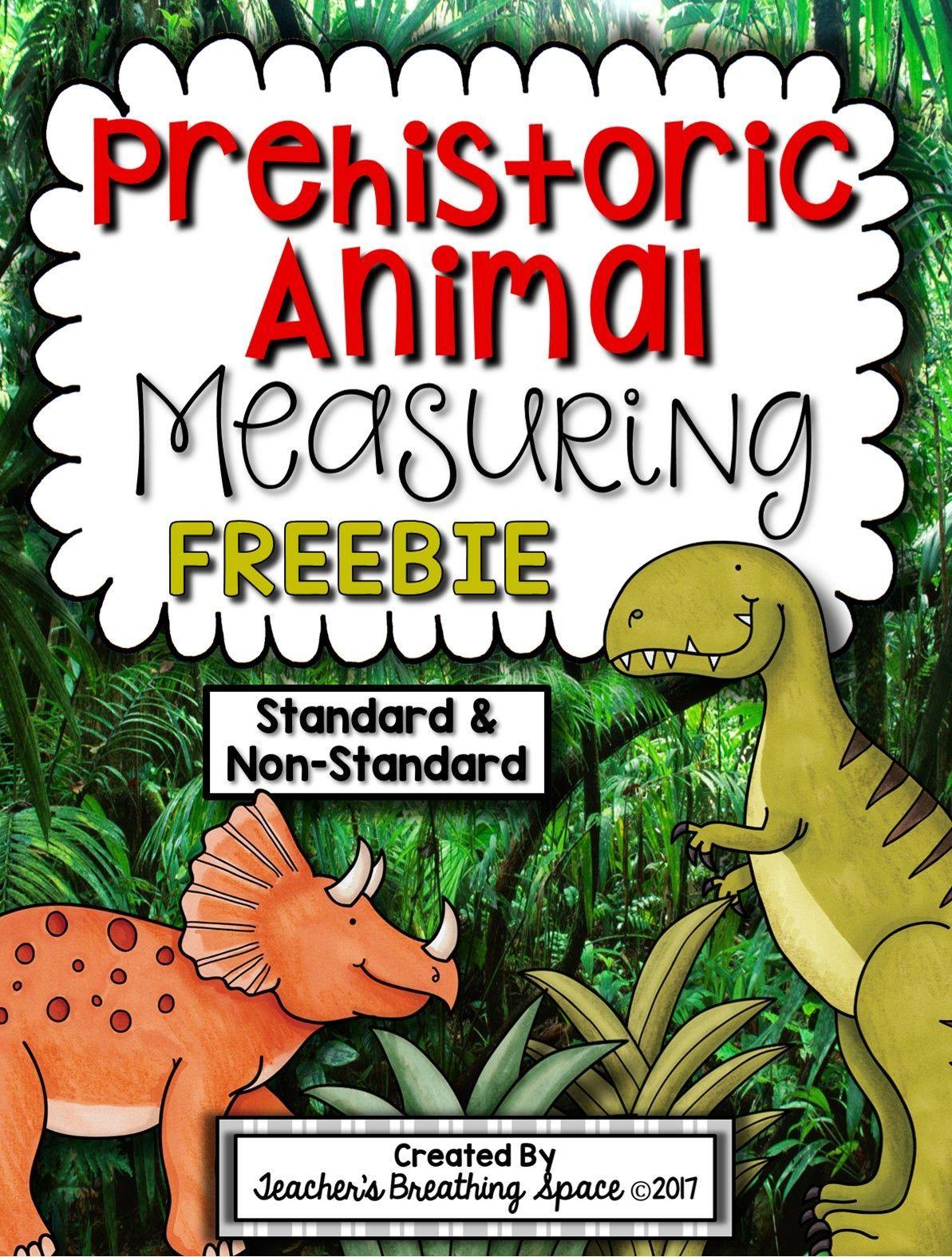 Prehistoric Animal Measuring Book Freebie Measuring