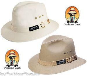 d3cb39e05d0 Men s PANAMA JACK Original Canvas Safari Hat NWT PJ39 2