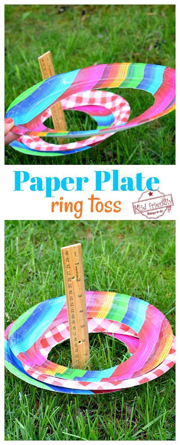 Paper Plate – DIY Ring Toss Game {Easy to Set Up}
